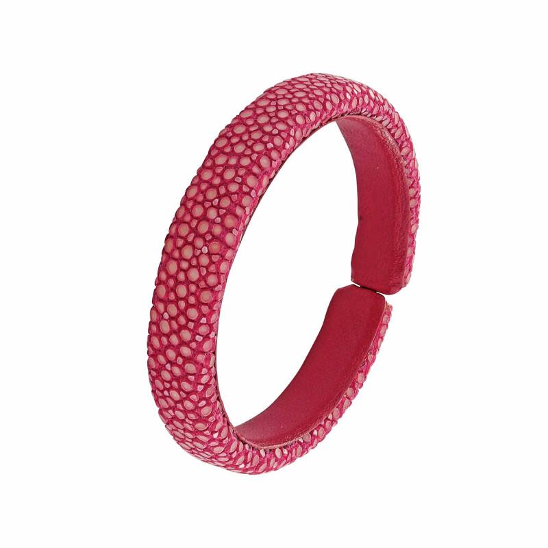 Bracelet galuchat fuchsia 10