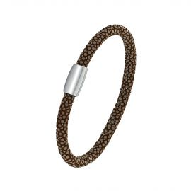 Brown shagreen bracelet