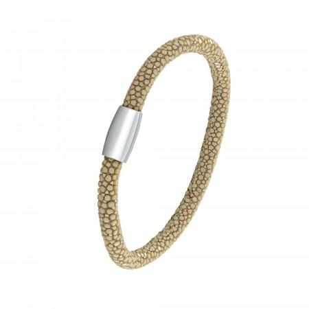 Beige shagreen bracelet