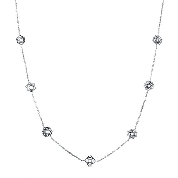 Flower charms necklace