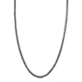 Sterling silver square snake chain necklace