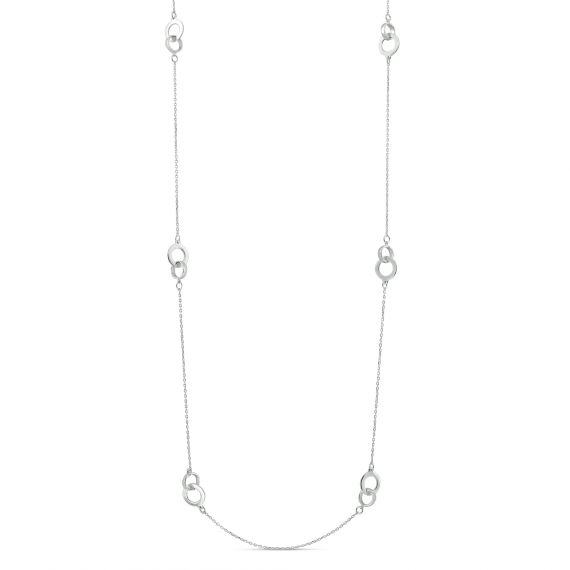 Sterling silver long necklace