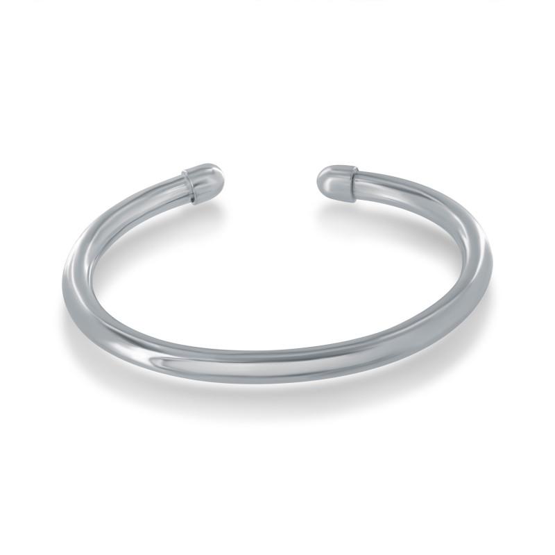 Small open buoy bangle bracelet