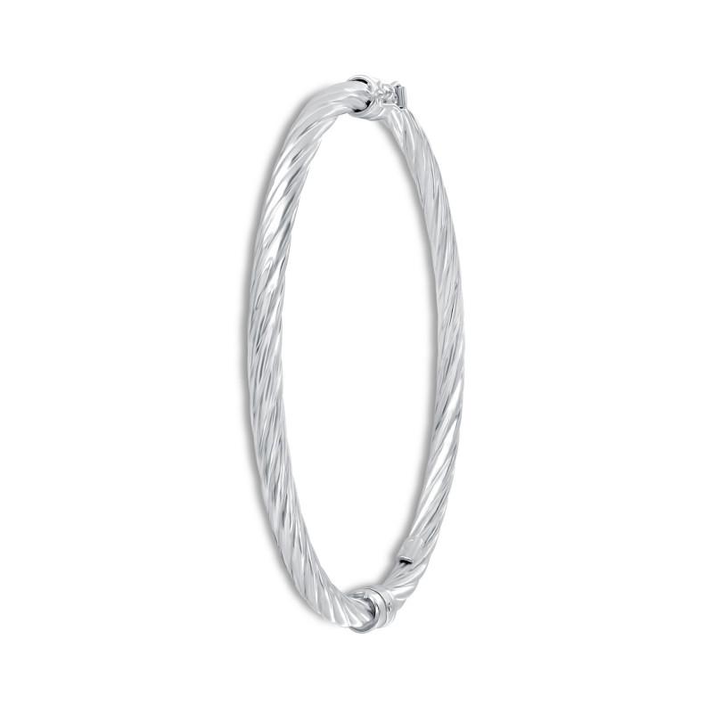 Bracelet rigide torsadé