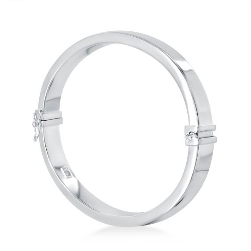 Bracelet rigide plat 8 millimètres