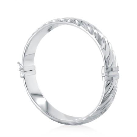Bracelet rigide strié 10 millimètres