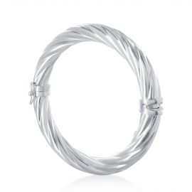 Twisted wire bangle bracelet