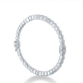 Bangle bracelet with silver pearl