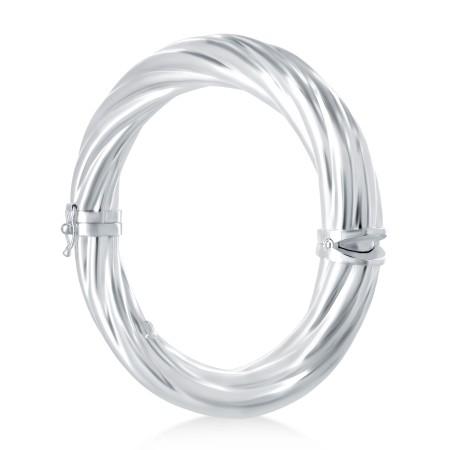 Bracelet rigide torsadé 10 millimètres