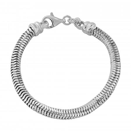 Round snake link bracelet