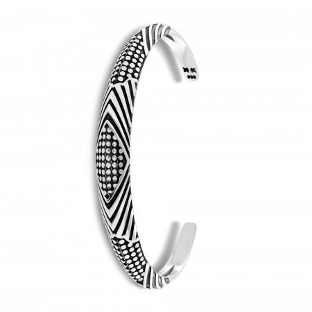 "Bracelet jonc homme ""Lines"""