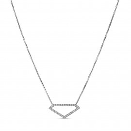 Collier motif diamant oxydes de zirconium